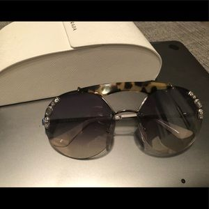 Prada aviators with rhinestones - never worn
